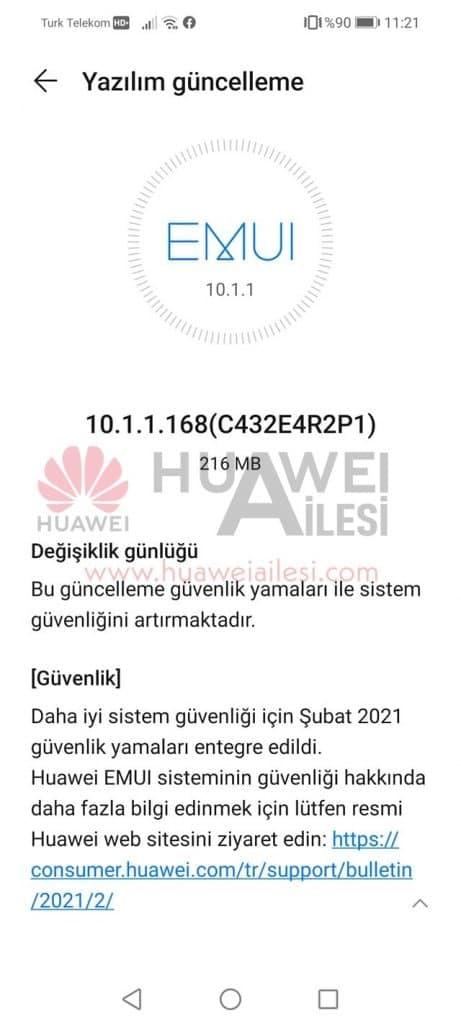 huawei p smart 2021 aggiornamento