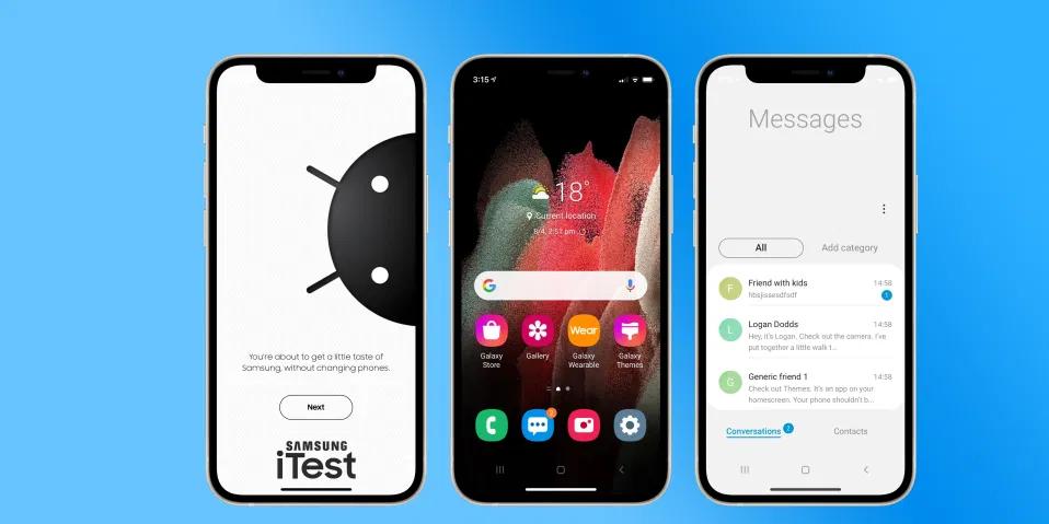 "Samsung lancia ""iTest"" |  un'app per trasformare l'iPhone in uno smartphone Galaxy"