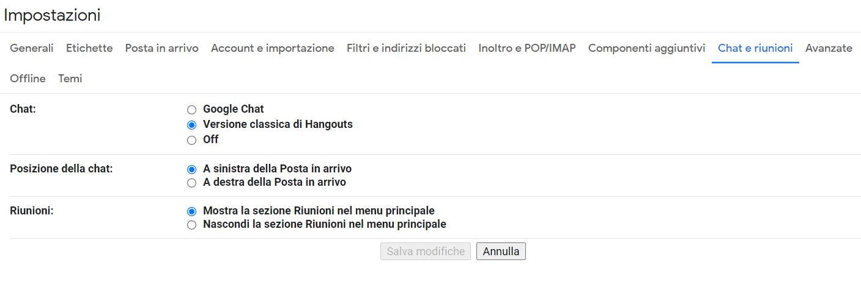 Gmail Google Chat
