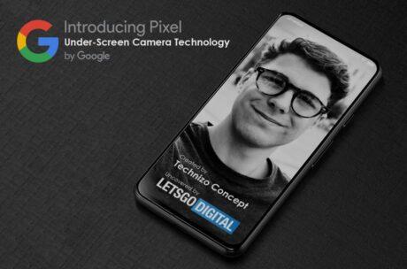 Google Pixel fotocamera in display