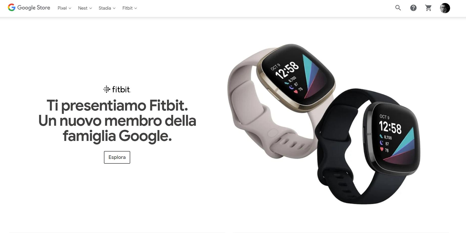 fitbit google store italia