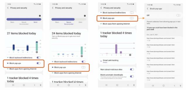 Samsung Internet Privacy