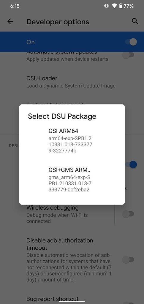 android 12 beta google pixel dsu