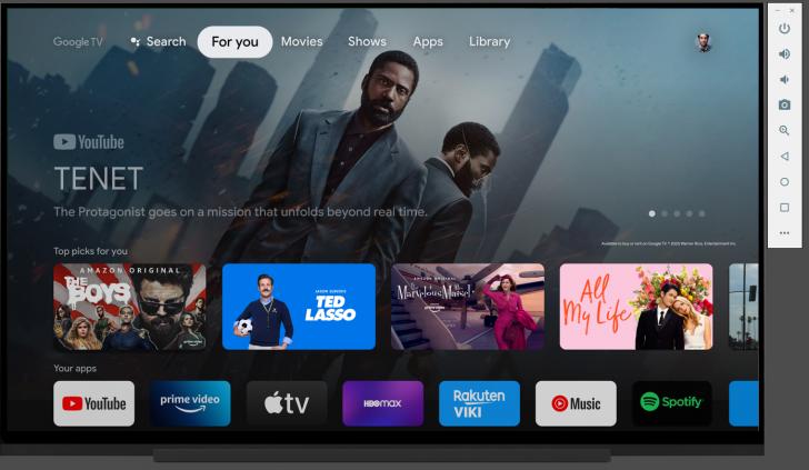 android tv 11 emulatore