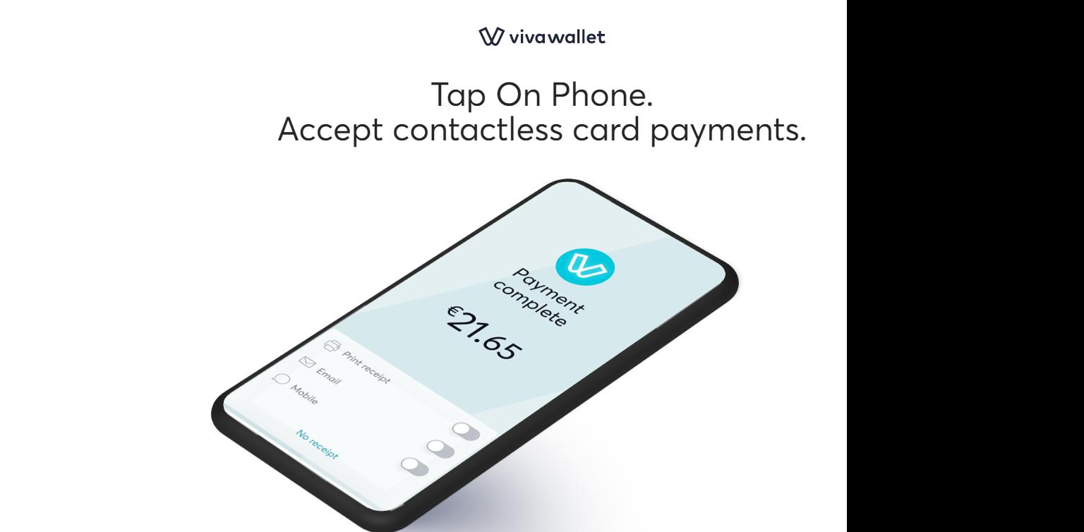 viva wallet pos tap on phone