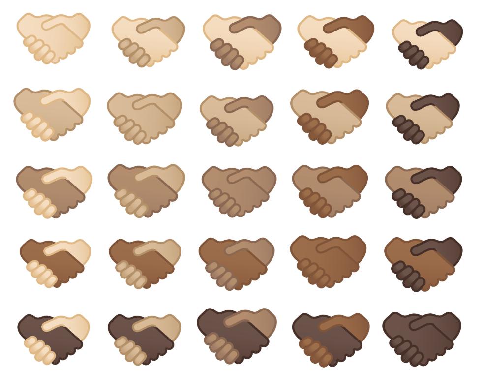 emoji stretta di mano