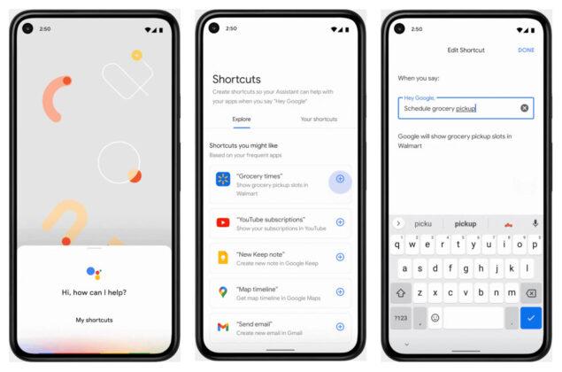 google assistant widget scorciatoie novità