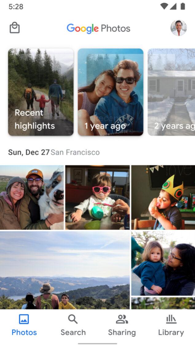google foto tab condivisione store novità