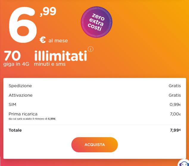 ho. mobile 6,99 offerta