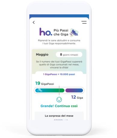 ho- mobile più passi che giga iniziativa