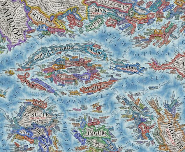 mappa internet 2021 designer