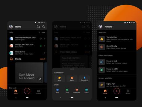 microsoft office tema scuro android aggiornamento