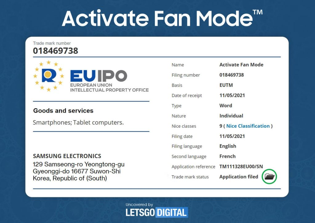 Samsung Activate Fan Mode