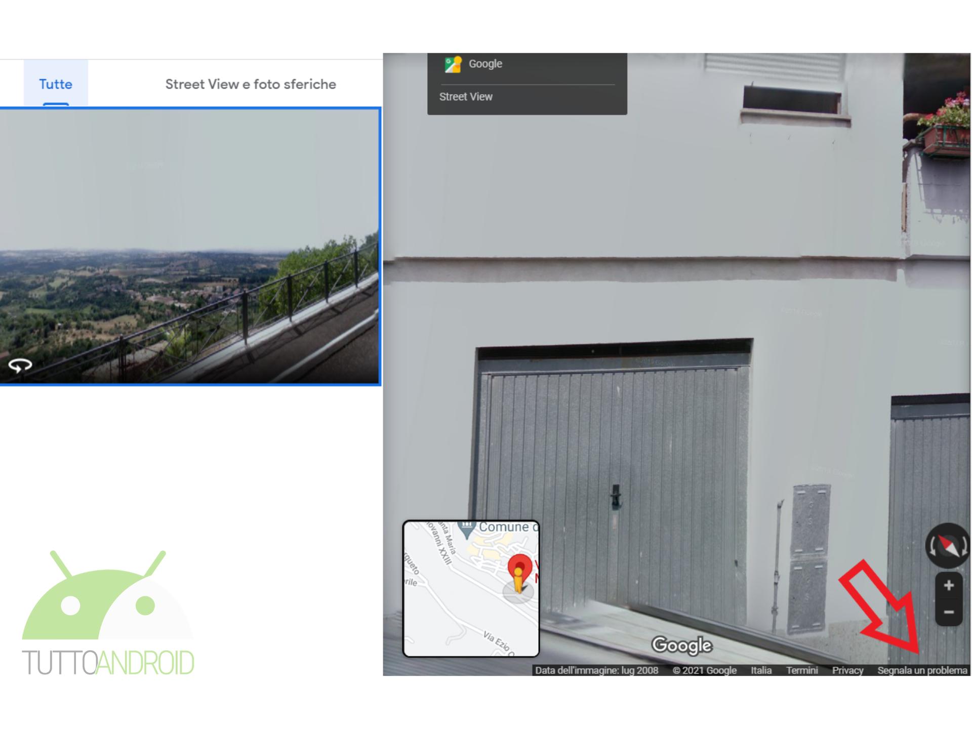 sfocare casa propria google maps street view