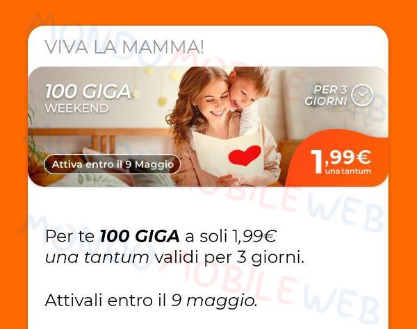 windtre go 50 star+ limited edition 100 giga weekend festa della mamma 2021