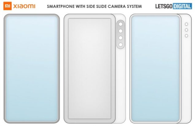xiaomi smartphone display scorrimento brevetto