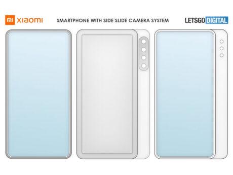 Xiaomi smartphone display scorrimento brevetto feat