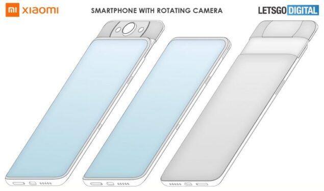 xiaomi smartphone fotocamera rotante brevetto