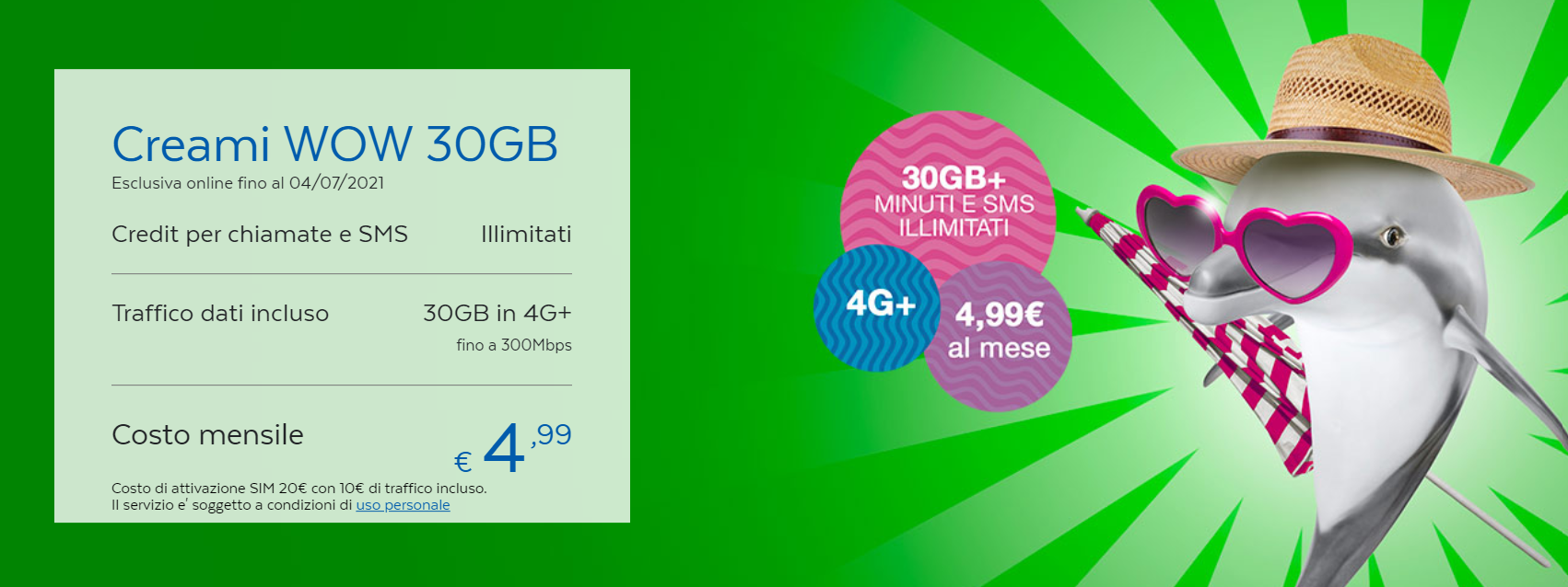 PosteMobile Creami WOW 30GB