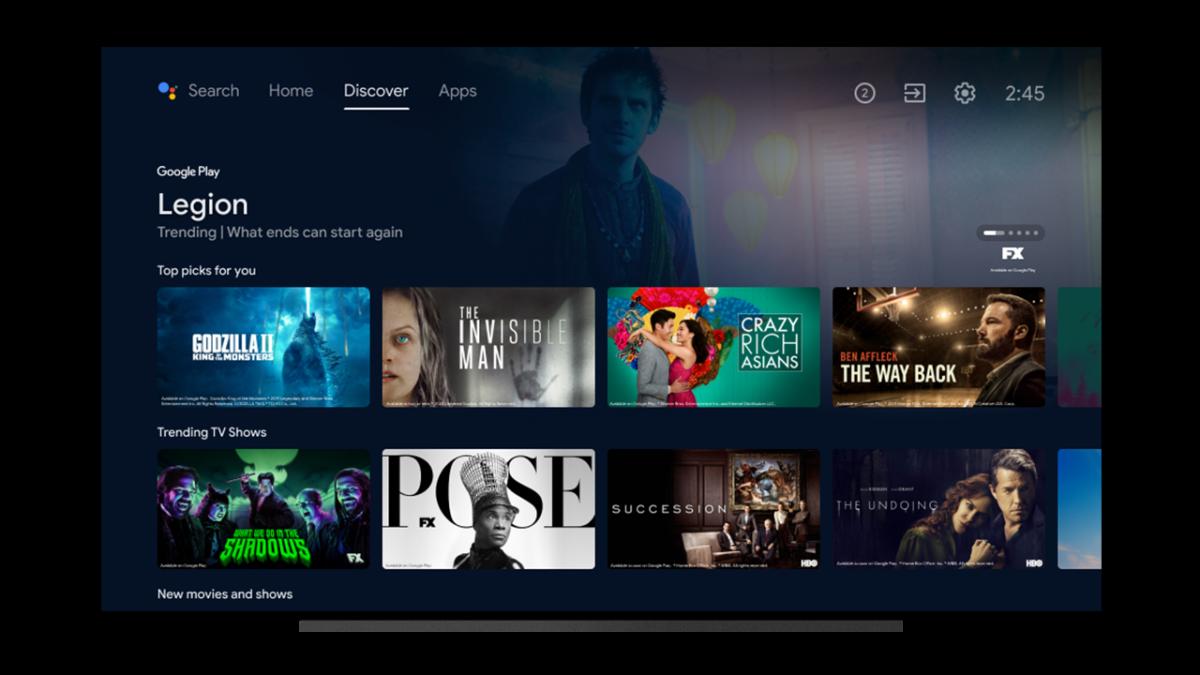 Nuova interfaccia Android TV