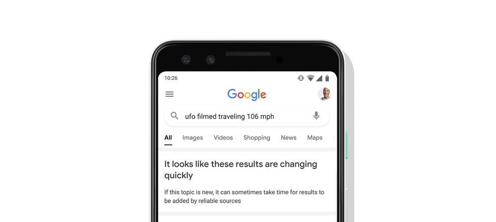 google search avviso risultati in evoluzione