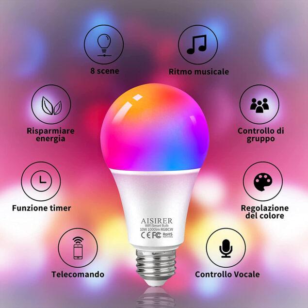 aisirer lampadina smart amazon prime day 2021 offerta