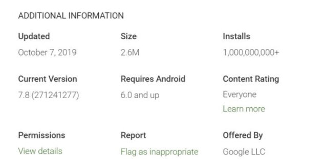 google assistant calcolatrice 1 miliardo 500 milioni download play store