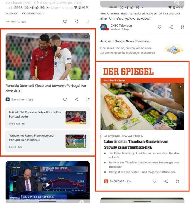 google discover nuovo layout novità