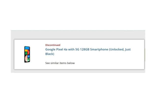 google pixel 4a 5g fuori produzione