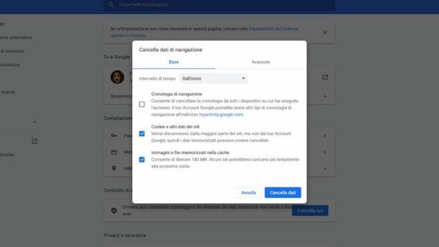 Svuota la cache quando Google Traduttore non funziona
