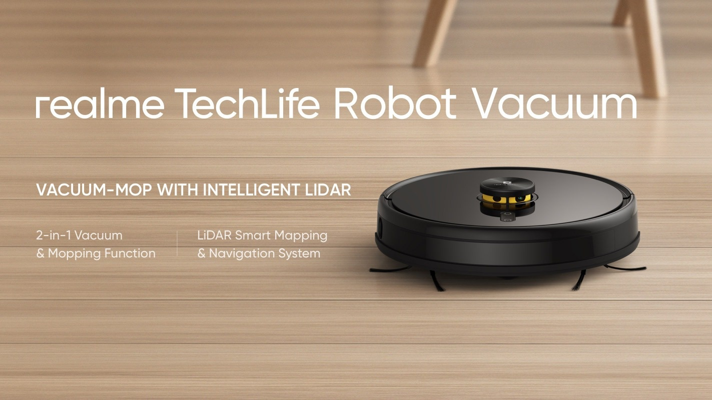 Realme TechLife Robot Vacuum è in offerta di lancio