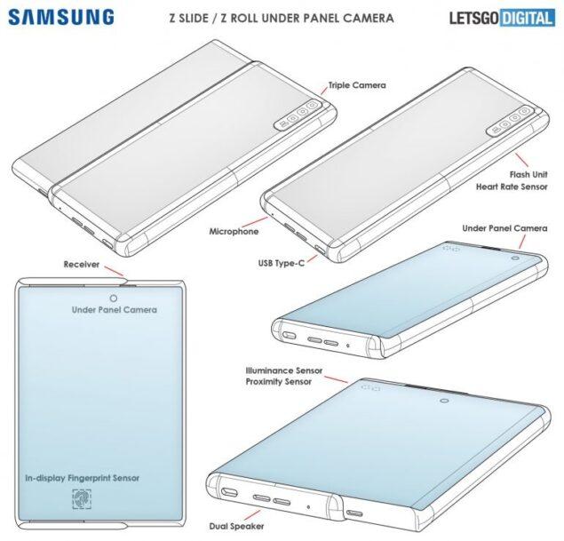 samsung smartphone display scorrevole fotocamera integrata brevetto
