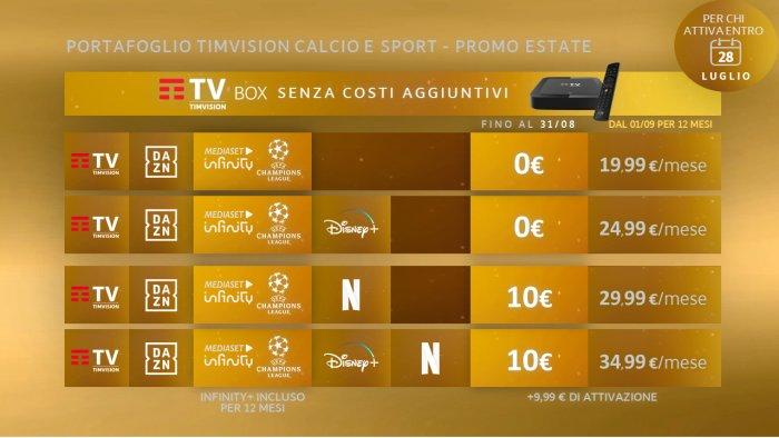 TIMVISION Calcio e Sport offerte