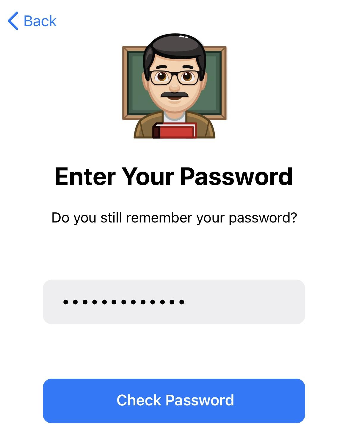 telegram password