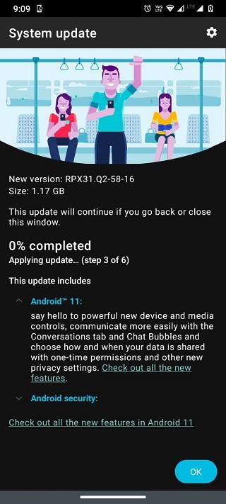 Motorola Moto G9 Android 11