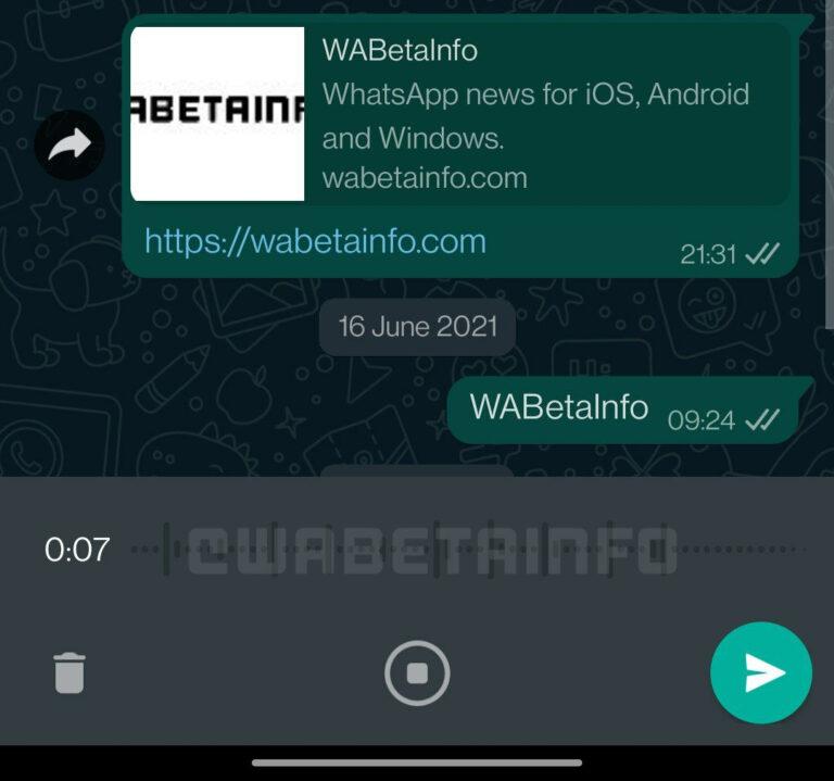 whatsapp beta messaggi vocali