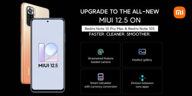 redmi note 10 pro max 10s miui 12.5 beta aggiornamento novità