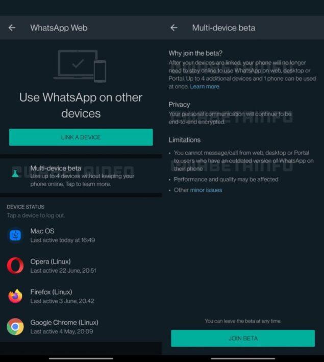 WhatsApp multi-dispositivo