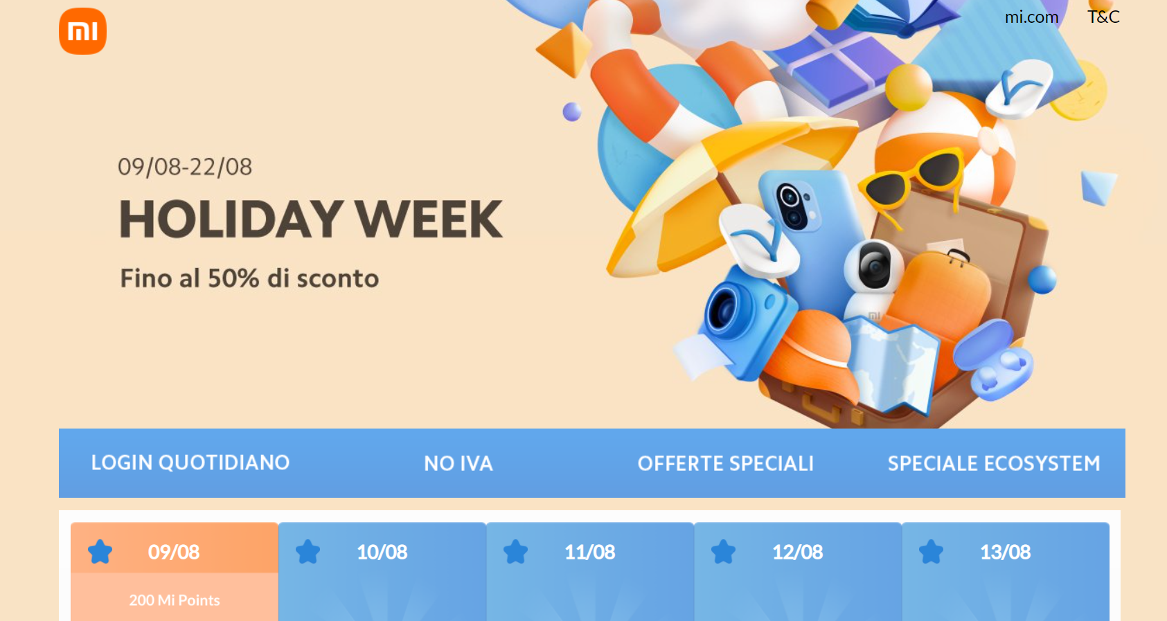 Offerte Holiday Week Xiaomi