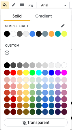 Google tema colori