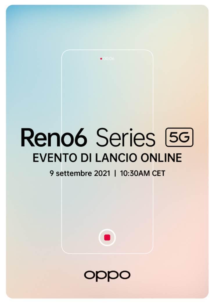 data presentazione serie OPPO Reno6