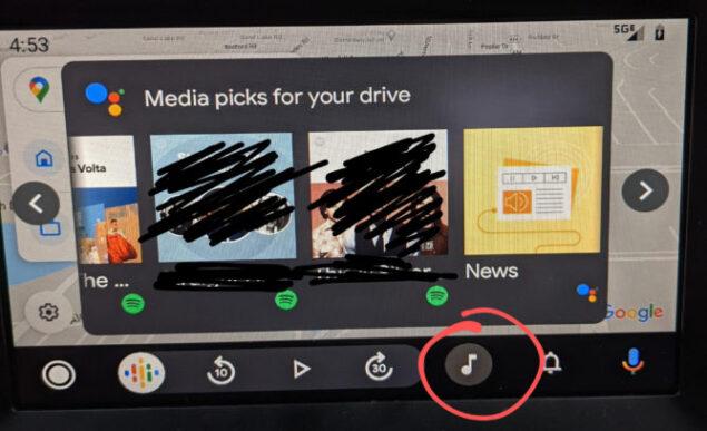 android auto scorciatoia suggerimenti musica podcast novità