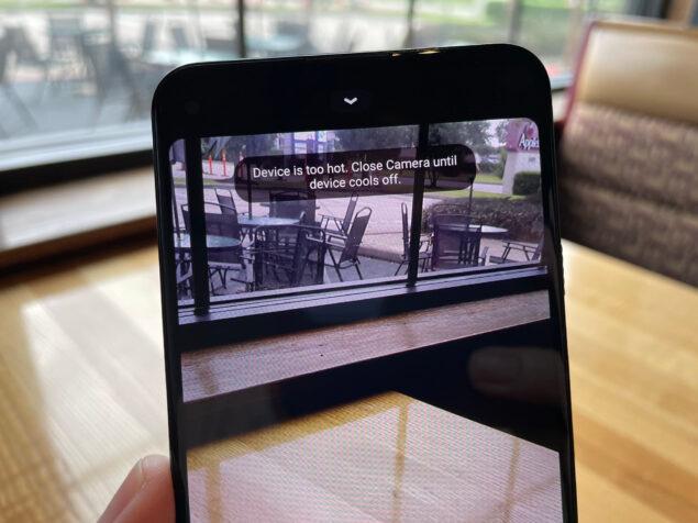 google pixel 5a video temperatura eccessiva