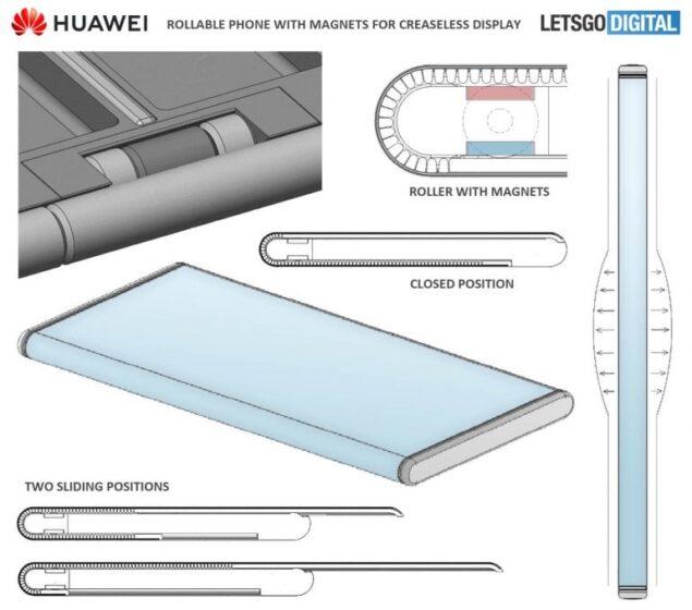 huawei smartphone display estraibile brevetto