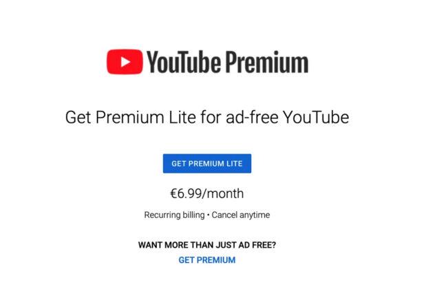 youtube premium lite test ufficiale