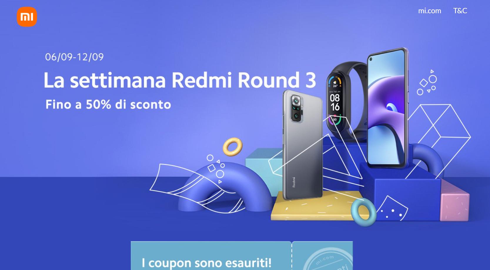 La settimana Redmi Round 3
