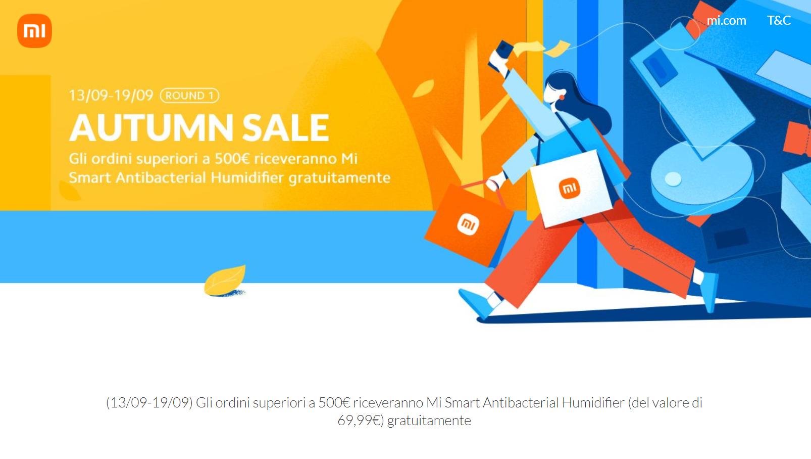 Xiaomi offerte Autumn Sale