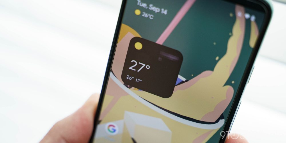Google Pixel 6 widget meteo