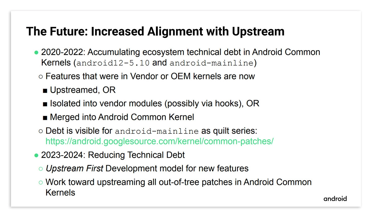 android google upstream first