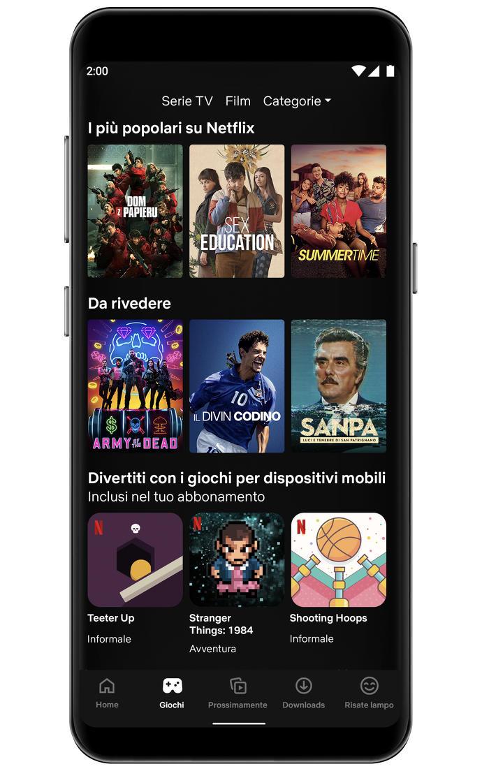 Netflix giochi